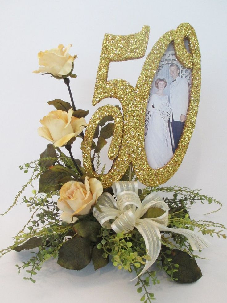 wedding centerpieces fake flowers%0A   th Anniversary Table Decorations     th centerpieces with pictures  roses  and cutouts   www          party   Pinterest   Table decorations