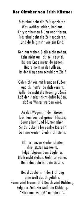 Der Oktober von Erich Kästner
