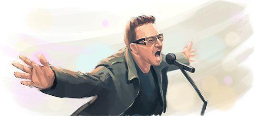 Paul David Hewson, nació en Dublin el 10 de mayo de 1960 y es conocido por su nombre artístico Bono. Es un músico irlandés, líder y vocalista del grupo de rock alternativo U2.Se ha distinguido como activista político, comprometido con el combate a la pobreza en África y a favor de la cancelación de la deuda externa de los países del tercer mundo.