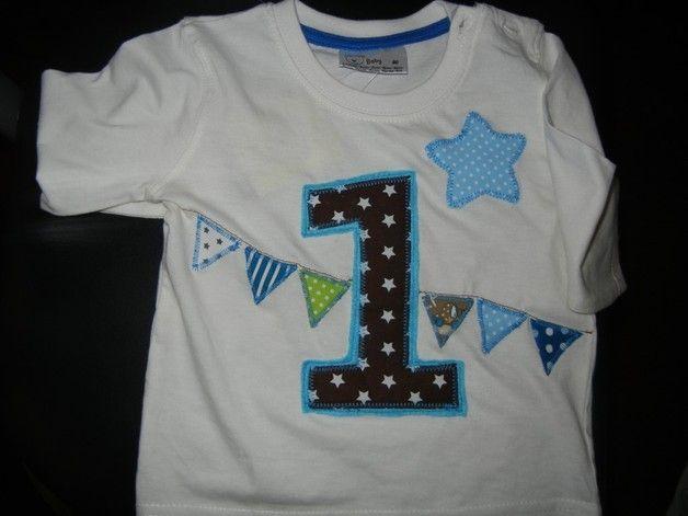 T-Shirts - Geburtstagsshirt mit Zahl - 1. Geburtstag - ein Designerstück von ApolloniaKH bei DaWanda