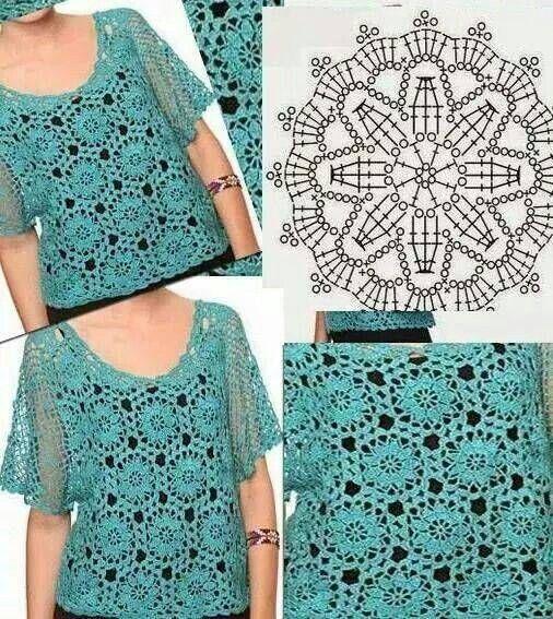 örgü motifli bluz yapımı