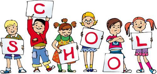 Cute School child design vector 02