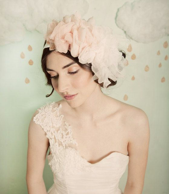 Ombre blush silk headband style 303 by mignonnehandmade on Etsy, $125.00