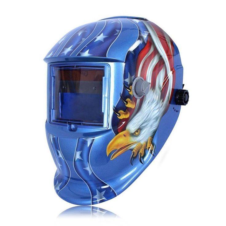 American Eagle Solar Auto Darkening Welding Helmet welding Lens eagle Mask Grinding Function Solar Powered Cap For Soldering