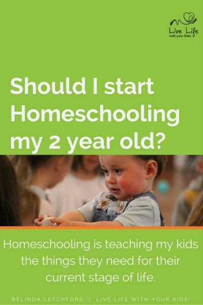 Should you homeschool a 2 year old? It depends on what you mean by homeschooling: what you plan to teach and how you plan to teach it.
