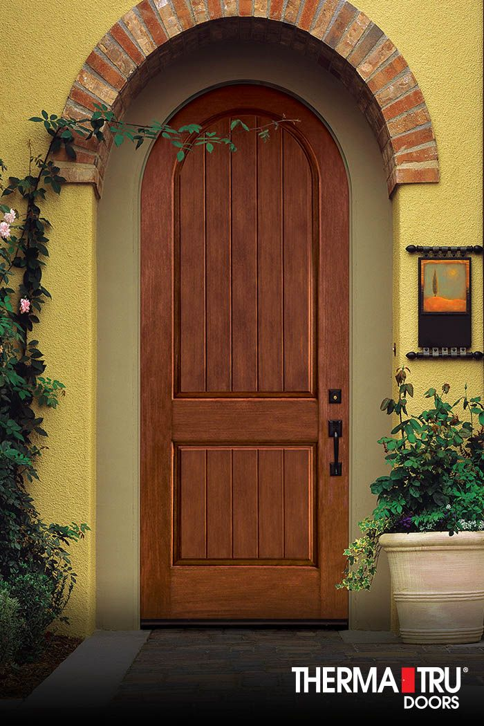 Therma tru classic craft rustic collection fiberglass door for Front door with 6 windows