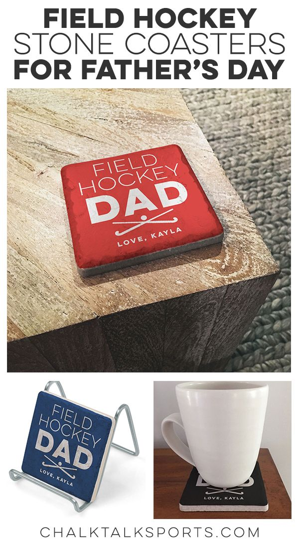 Field Hockey Dad S Will Love These Personalized Stone Coasters For Their Morning Coffee Or Evening Beer Field Hockey Gifts Field Hockey Hockey Gifts