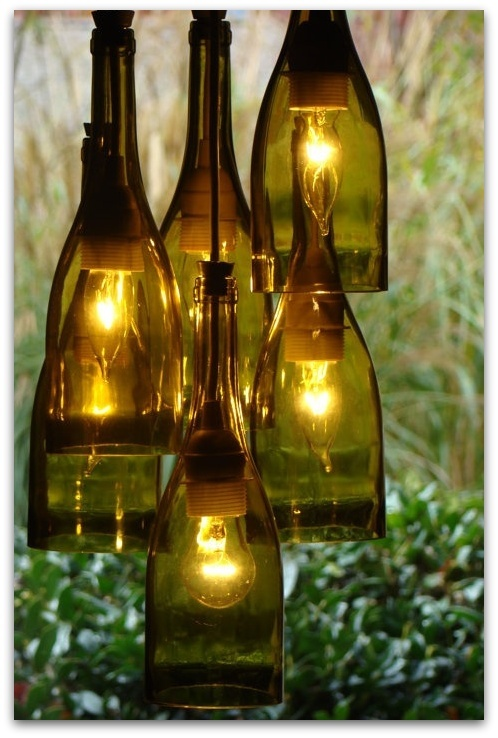 17 best images about patio lighting on pinterest hanging for Wine bottle patio lights