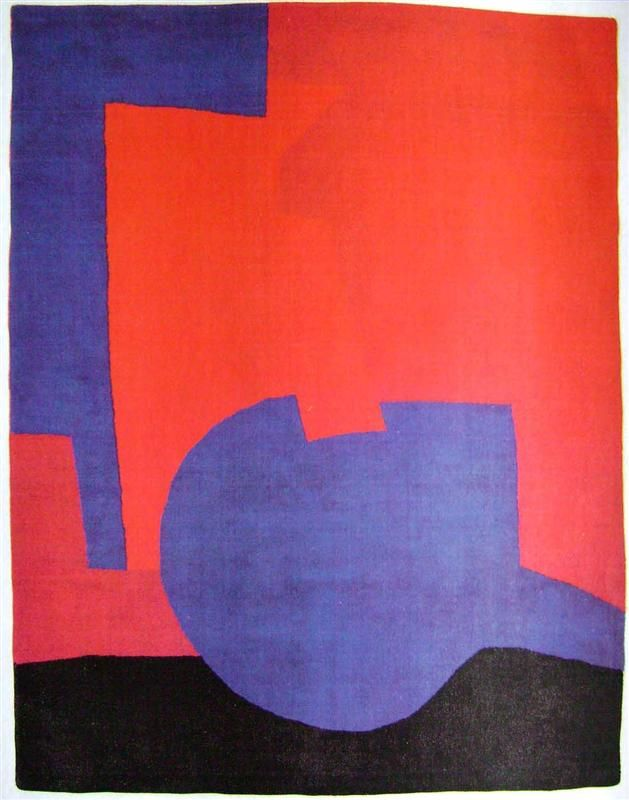 Composition rouge, 1968 by Serge Poliakoff. Tachisme. abstract