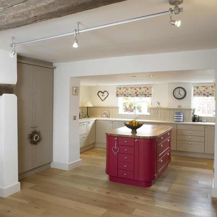 Painted Kitchen In Farrow & Ball Oxford Stone, Larder In