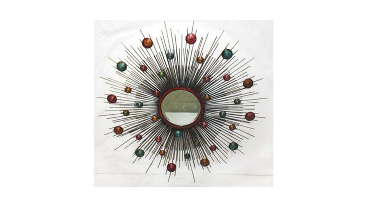 Now this would look fantastic to add colour and personality to your wall. A great size and not just a mirror! Size:  950×950