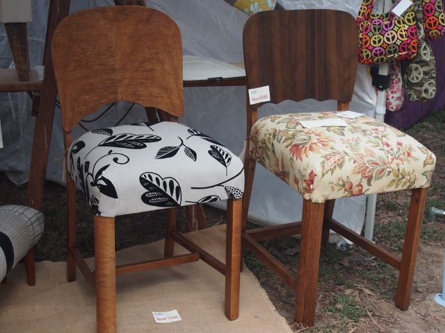 Recovered chairs for the dining room, study or bedroom.