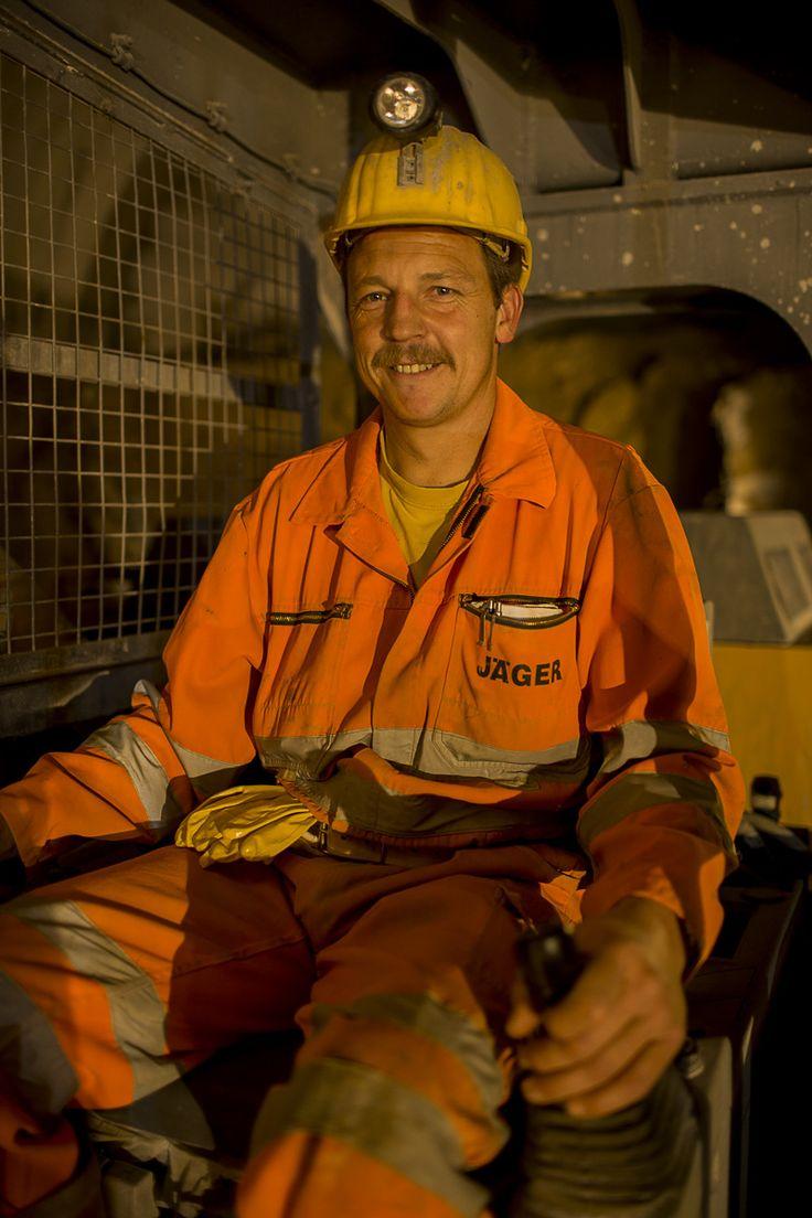 Robert Wurnitsch der Jäger Bau GmbH ist Drittelführer im Tunnelbau