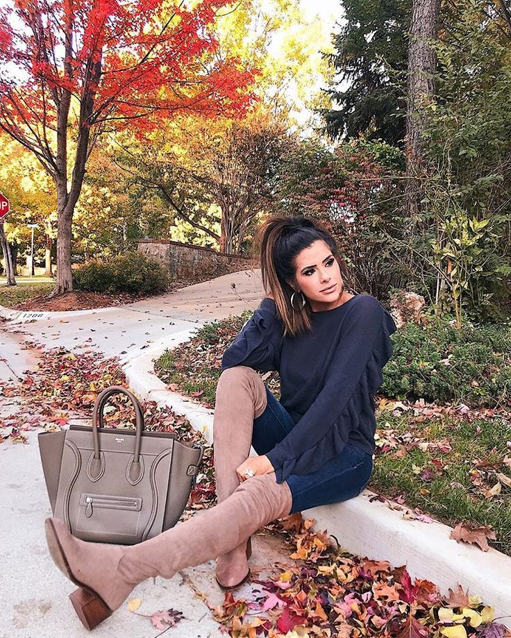 Leith Sweater | DL1961 Denim | Steve Madden Boots | BP Earrings | Michele Watch | David Yurman Bracelets | Celine Bag | OTK taupe boots | Fall Outfit | Winter Outfit | High Boots | Fashion Trends | Emily Ann Gemma | The Sweetest Thing Blog #TheSweetestThingBlog #EmilyAnnGemma