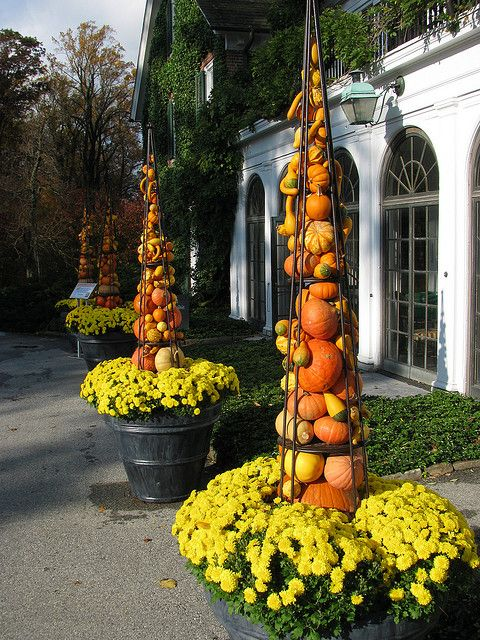Fall Garden Decorating Ideas image of outdoor fall party decorations I Have To Do This In My Front Yard Somewhere Autumns Colors 2009 046 Longwood Gardensfall Decoratingfall Halloweengarden