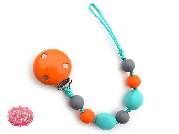 Mini Chic pacifier clips are functional and safe. They are fashionable, a great sensory tool and teether. Made of food grade silicone beads.
