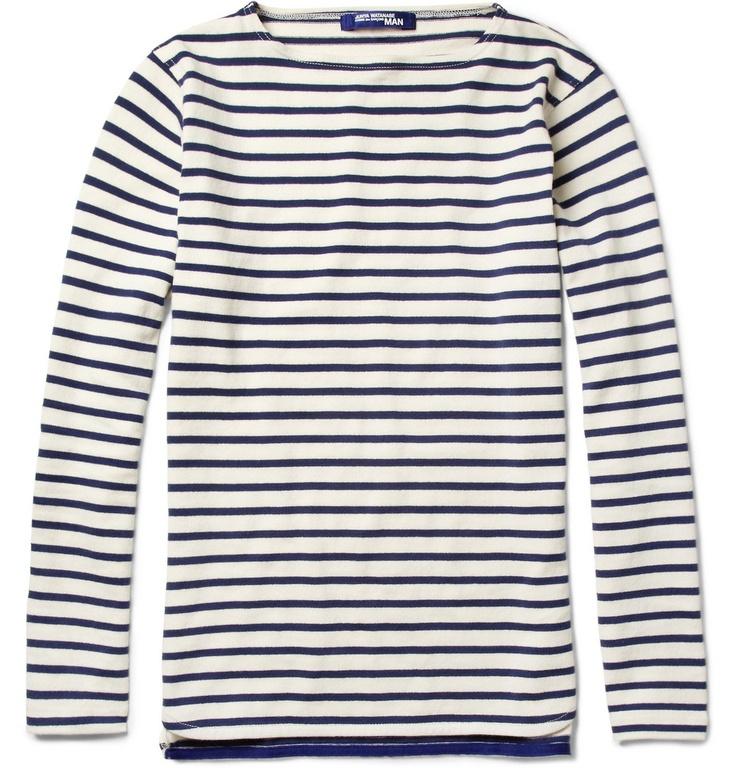 Junya WatanabeLong-Sleeved Striped Cotton T-Shirt|MR PORTER
