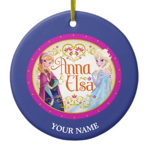 Anna and Elsa Personalized Christmas ornament