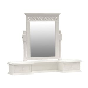 Belgravia Table top with Mirror - White