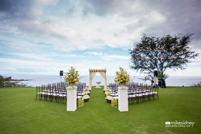 Average Cost Of Wedding Flowers Bay Area : Four seasons manele bay wedding ceremony at the tee box