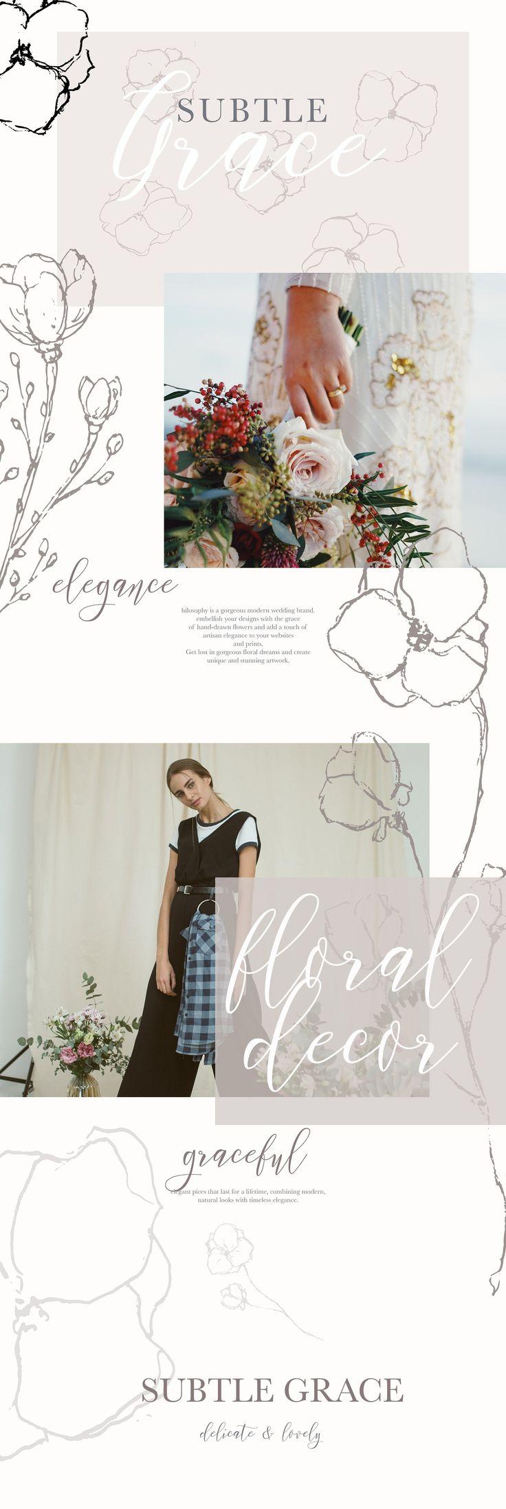 Graceful Floral Illustration Bundle by Laras Wonderland on Creative Market
