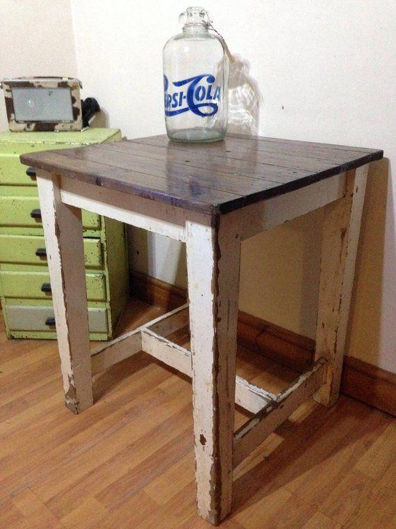 vintage butchers block kitchen table island by monkistuff rh pinterest com