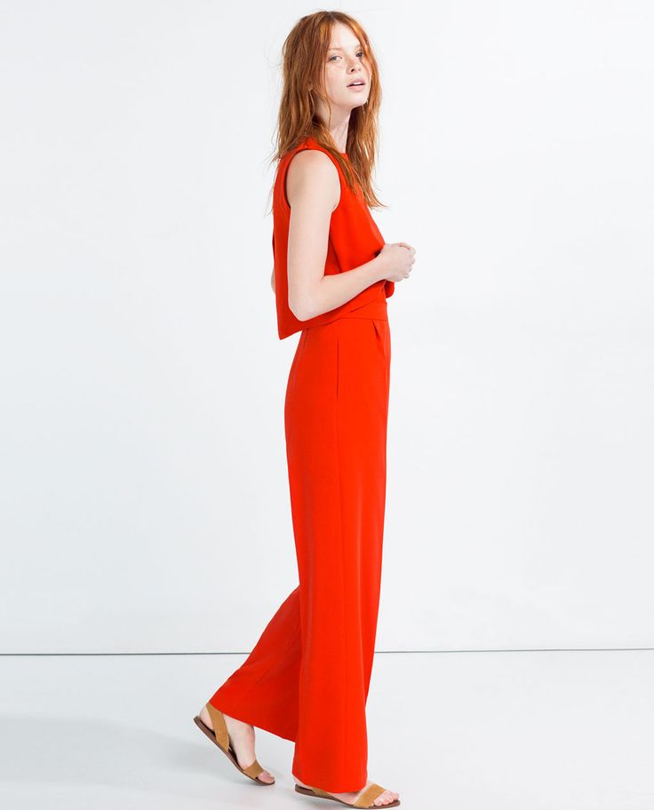 Image 4 of LONG LAYERED JUMPSUIT from Zara