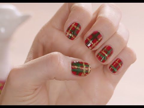 Plaid Is One Of The Staple Patterns Season So Why Not Try It Out On Your Nails Parris Hodges Has A Step By Guide How You Can Layer Red