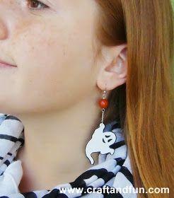 Halloween orecchini con fantasmi