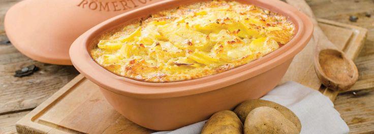 Kartoffel-Gratin im Römertopf  #Rezept