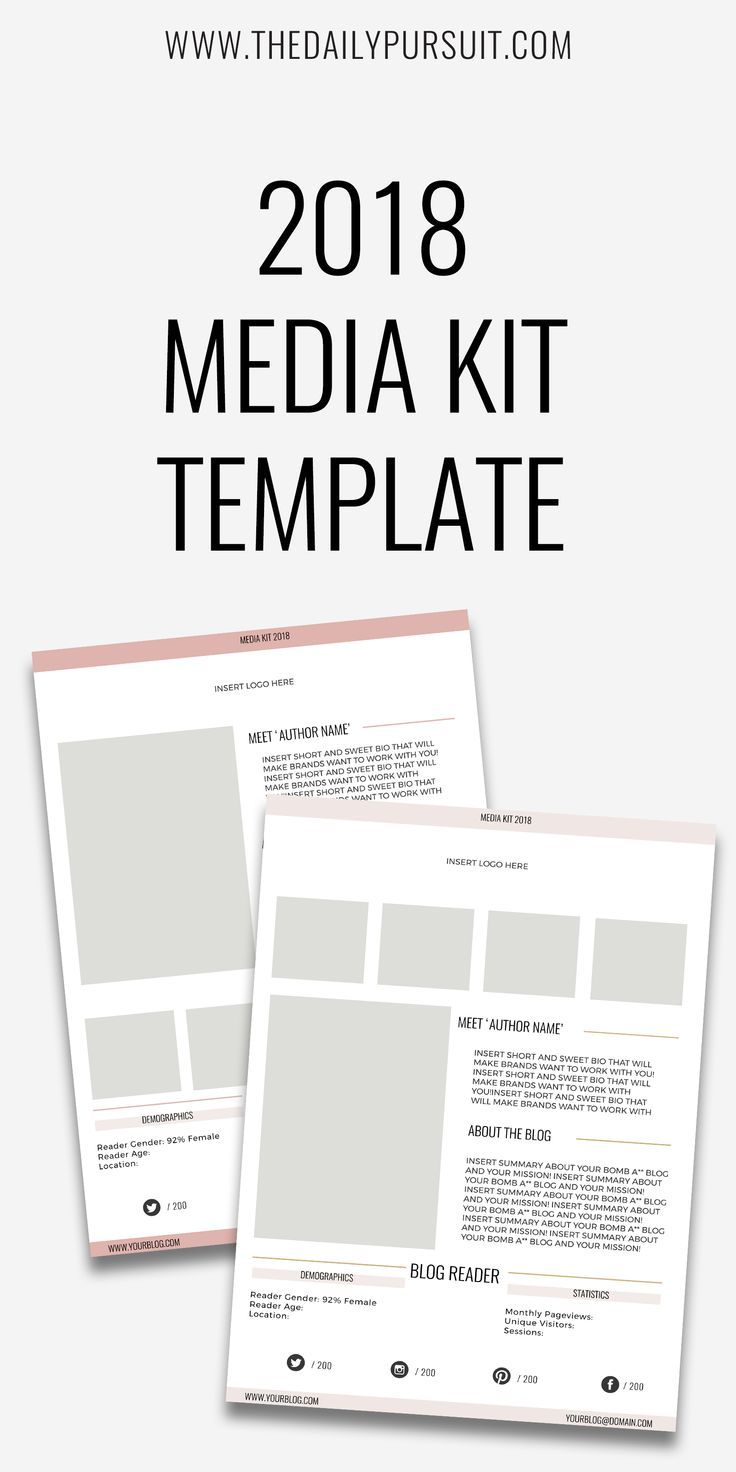 Best 25 media kit template ideas on pinterest media kit a blog media kit template 2018 media kit template digital download photoshop format instant pronofoot35fo Image collections