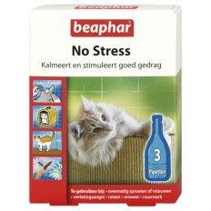 Beaphar No Stress druppels kalmeren, stimuleren goed gedrag en verminderen stress bij katten. Deze druppels bevatten Valeriaanextract; een natuurlijk middel met een kalmerende werking. Het micro-ingekapselde extract komt langzaam vrij en is langdurig werkzaam.