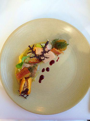 'Charcuterie' - Jonai Farms - Black pig - jellied, crumbed galette, terrine, rillettes, parfait. [Lake House - Daylesford, Victoria, Australia]