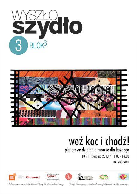 """Plakat to działań warsztatowo-piknikowych w ramach projektu """"Wyszło szydło"""" / Magdalena Kreis"""