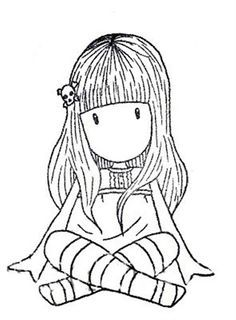 Gorjuss Santoro Spring Brights Stamps clipart and coloring pages - Google Search