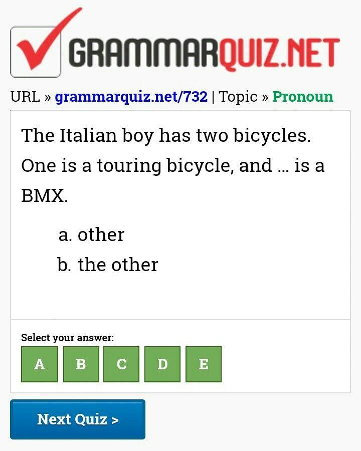 What Is The Correct Answer Https Grammarquiz Net 732 Quiz