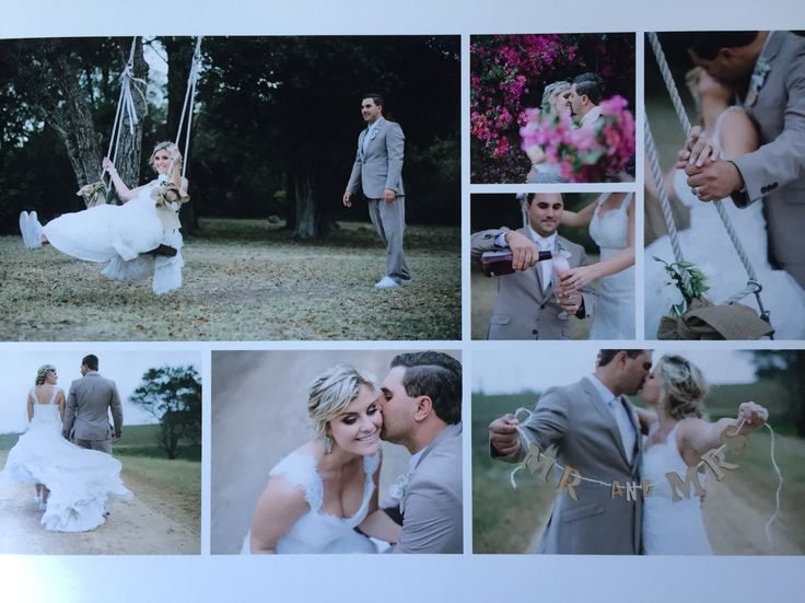 I would love to do this again!! | wedding | bride | groom | lace | champagne | swing | laughter