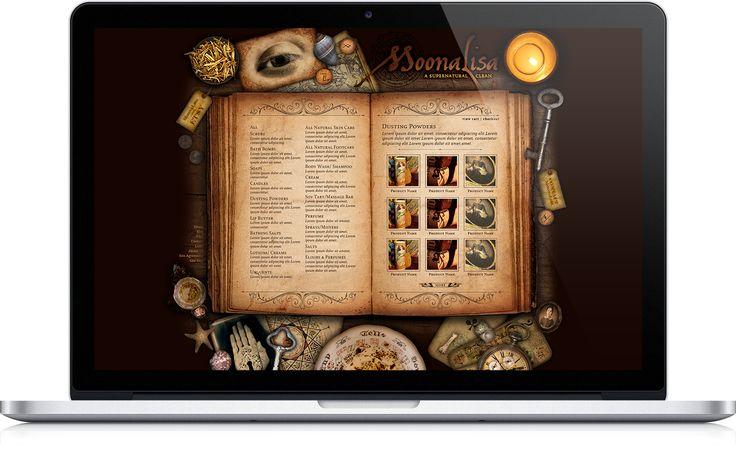MoonaLisa.com eCommerce websites designed by Kira Butler in Montreal. http://www.elixireleven.com