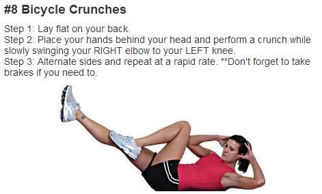 Bicycle crunches | Fitness and Exercise | Pinterest ...