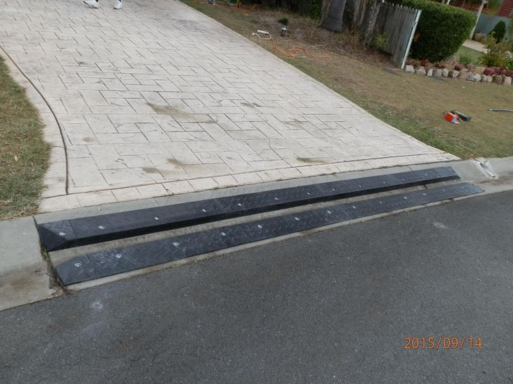 Car Bottoming Out These Heavy Duty Rubber Driveway Ramps