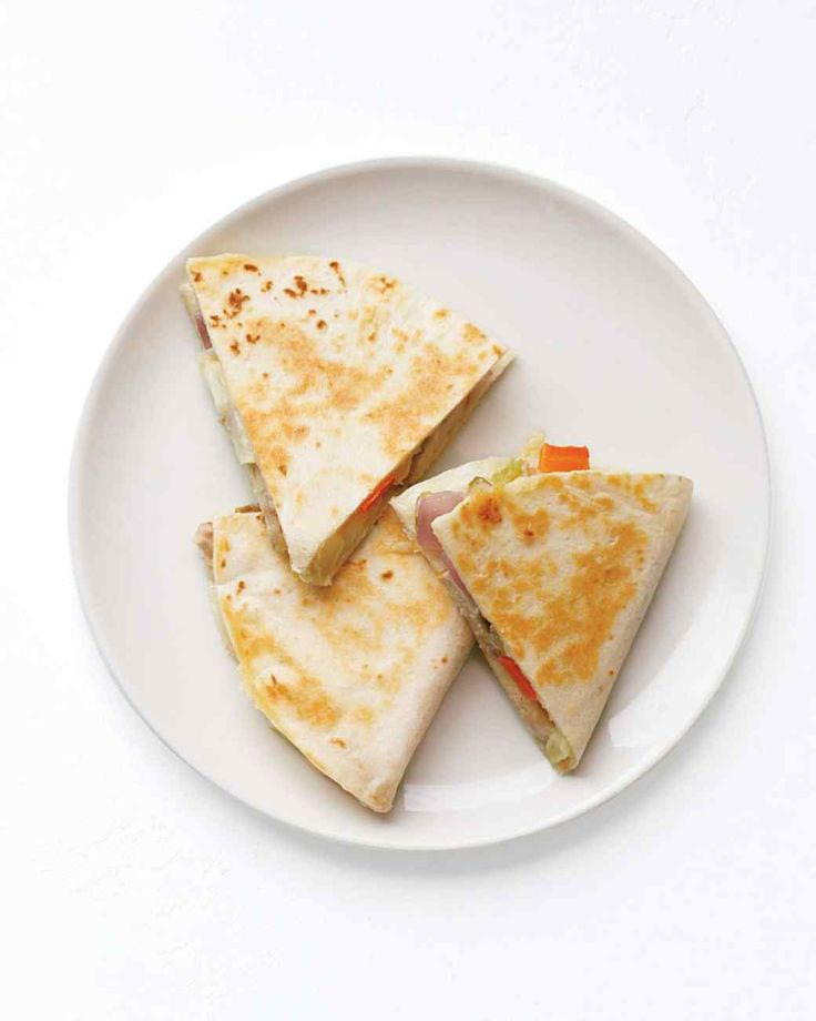 Serve these delicious and cheesy Mexican quesadillas with leftovers from our Pork Chops with Fennel and Carrots that you made earlier in the week.