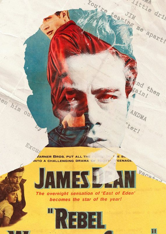 James Dean Limited Edition Movie Legend Artwork by OldGlowGifts