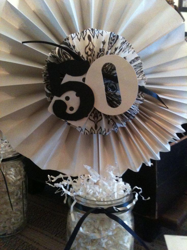 Elegant 50th Birthday Table Decorations Photograph Bi