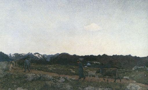 Trittico della natura - La natura, 1898, Carboncino e matita dura su carta, Winterthur, Stiftung fuer Kunst, Kultur und Geschichte