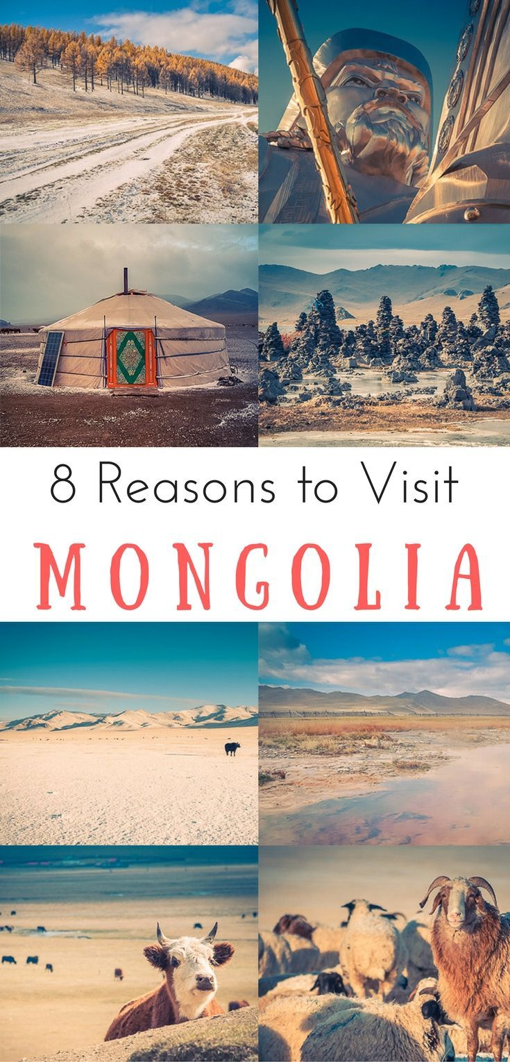 8 great reasons to travel to Mongolia in 2017. Mongolia has been one of the most amazing destinations I have been throughout the past 10 years. The country is incredibly unique! We share why you need to visit Mongolia and why now. Happy Travels ♡