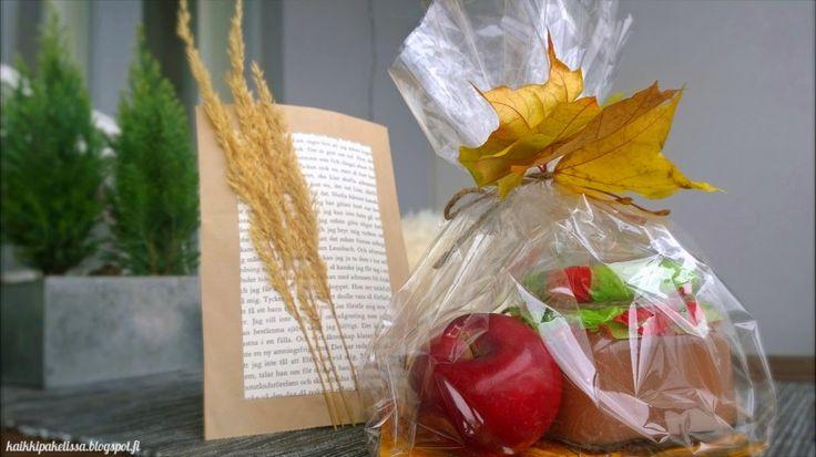 A cute autumn gift. Omenahilloa syysviemisenä.