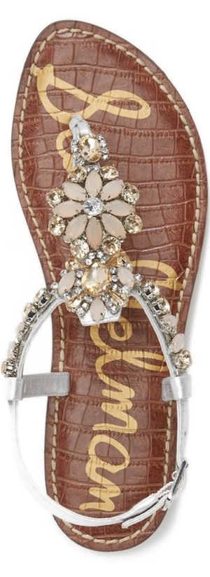 Sam Edelman 'Garen' Embellished Leather Sandal
