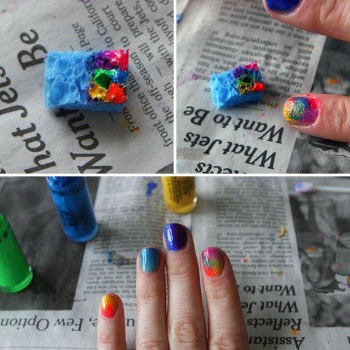 Ombre nails tutorial... CUTE!!!!!!