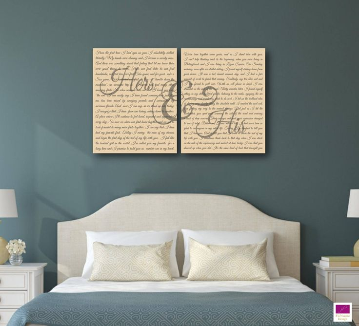 Mr and Mrs Wedding Vow Canvas Art