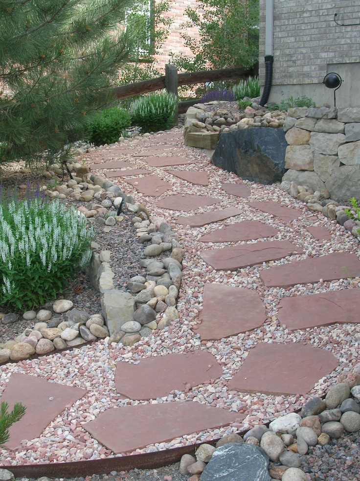 how to build a flagstone path